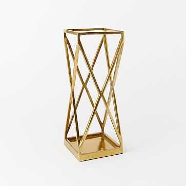 Geo Umbrella Stand, Antique Brass - West Elm