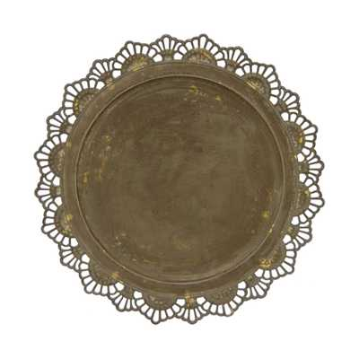 Brown Metal Charger Plate - Home Depot