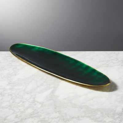Surface Emerald Green Platter-Server - CB2