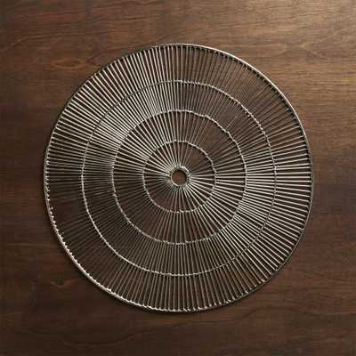 Round Silver Placemat - Crate and Barrel