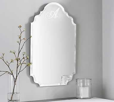 Scarlett Monogram Wall Mirror - Pottery Barn