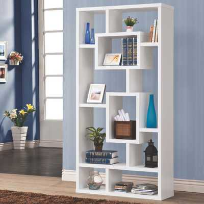 Maguire White Bookcase - Home Depot
