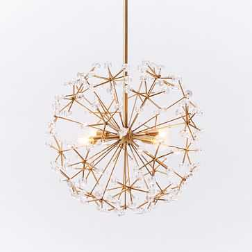 Floral Burst Chandelier, Antique Brass - West Elm