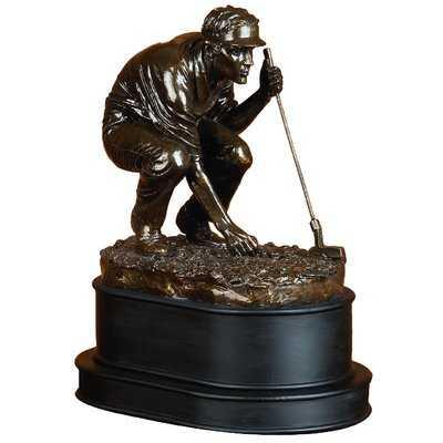 Polystone Golf Player Figurine - Wayfair