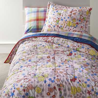 Fresh Floral Full-Queen Quilt - Crate and Barrel