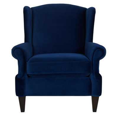 Anya Navy Blue Arm Chair - Home Depot