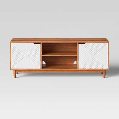 55 Touraco TV Stand White Brown/White - Opalhouse - Target