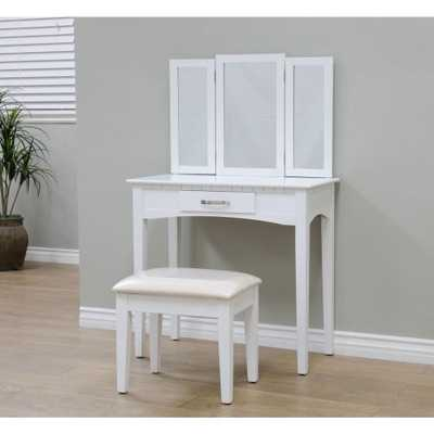 3-Piece White Vanity Set - Home Depot