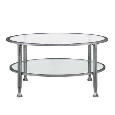 Galena Silver Round Cocktail Table, Metallic Silver - Home Depot