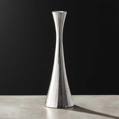Palmer Medium Silver Taper Candle Holder - CB2