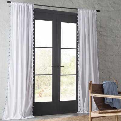 Alexis Solid Semi-Sheer Cotton Rod Pocket Curtain Panels - AllModern