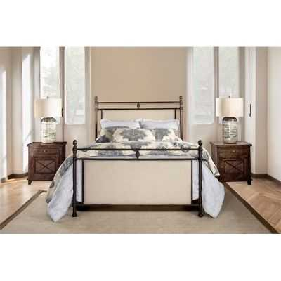 Ashley Bed - King - Metal Bed Rail Included - eBay