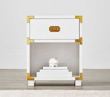 Gemma Nightstand, Simply White, Flat Rate - Pottery Barn Kids