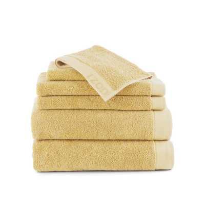 Classic 6-Piece Cotton Bath Towel Set in Lemon (Yellow) - Home Depot