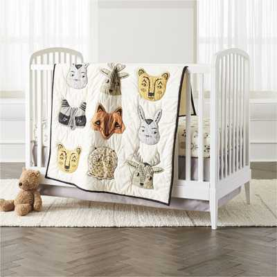 Roxy Marj Woodland Animal Crib Bedding, 3-Piece Set - Crate and Barrel