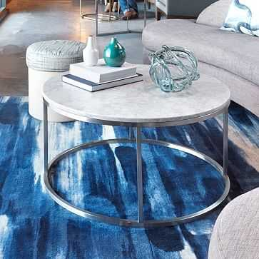 Round Marble Coffee Table - West Elm