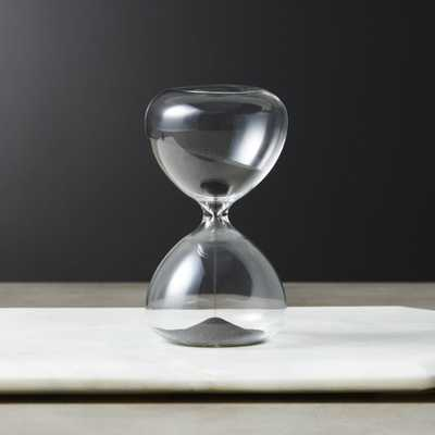 5-Minute Black Sand Hour Glass - CB2