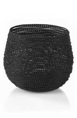 Zodax Set Of 2 Twisted Wire Planter Baskets, Size One Size - Black - Nordstrom
