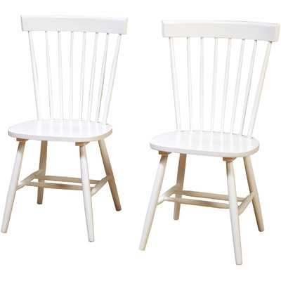 Royal Palm Beach Solid Wood Dining Chair- (Set of 2) - Wayfair