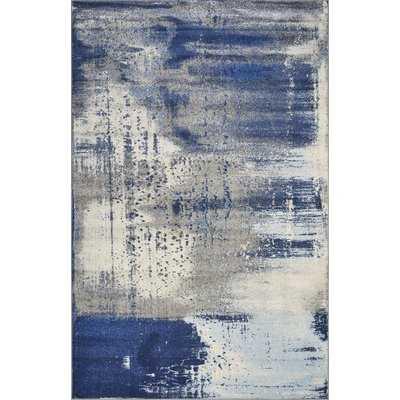 Strouth Ice Flow Gray/Blue Area Rug - Wayfair