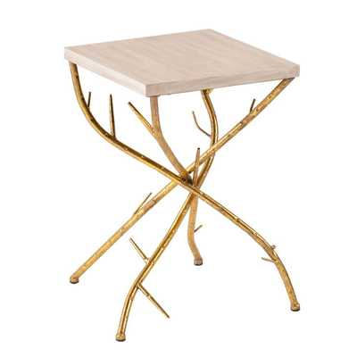 Gulliver Metallic Gold End Table - Home Depot