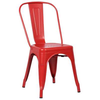 Trattoria Red Side Chair - Home Depot