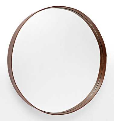 Bentwood Round Walnut Mirror - Rejuvenation