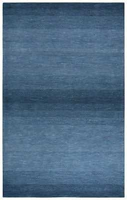 Rizzy Rugs Blue Banded Bars Wool Lines Contemporary Area Rug Striped DUN107: 8' x 11' - eBay