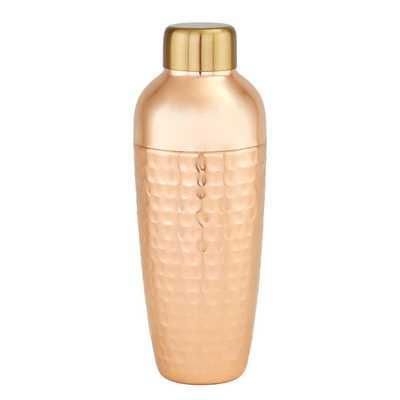 Aura 30 oz. Hammered Copper Cocktail Shaker - Home Depot