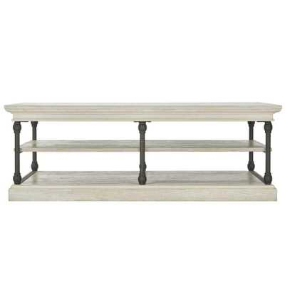 Manor Drive White Wash Coffee Table - Home Depot