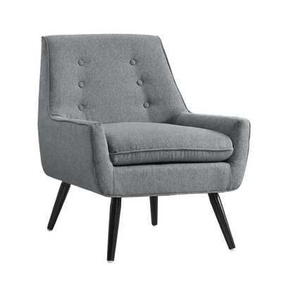 Trelis Gray Flannel Arm Chair - Home Depot