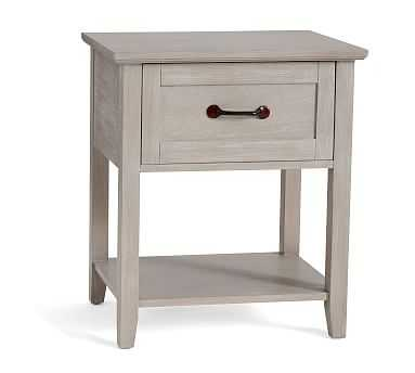 Stratton Nightstand, Brushed Fog - Pottery Barn