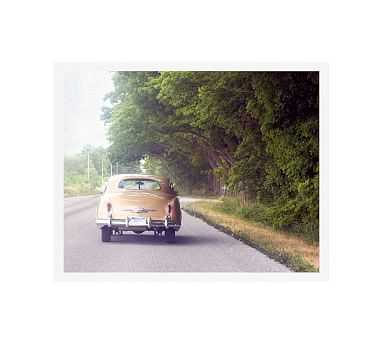 """Classic Road Car Framed Print by Cindy Taylor, 20x16"""", Wood Gallery Frame, White, No Mat - Pottery Barn"""