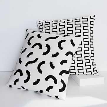 Dusen Dusen Pillow Cover, Curves - West Elm