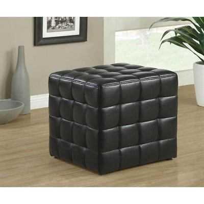 Hawthorne Ave Ottoman - Black Leather-Look Fabric - 199101-1938269-251 - eBay