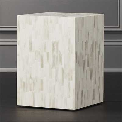 Quad Bone Inlay Side Table - CB2