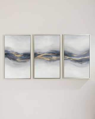 """Beneath the Blue"""" Giclee Canvas Wall Art, Set of 3"""" - Horchow"""