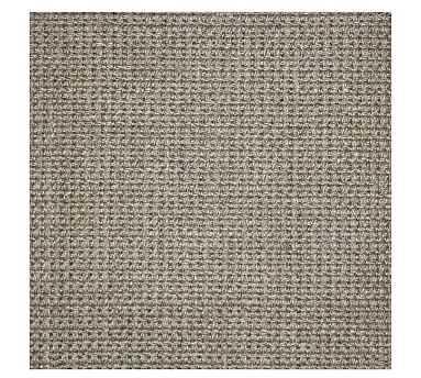 Fibreworks(R) Custom Mini Basketweave Sisal Rug, 5 x 8', Light Gray - Pottery Barn