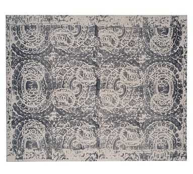 Bosworth Printed Wool Rug, 8x10', Gray - Pottery Barn