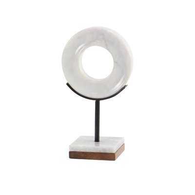 Riel Modern Marble Ring Sculpture - Wayfair