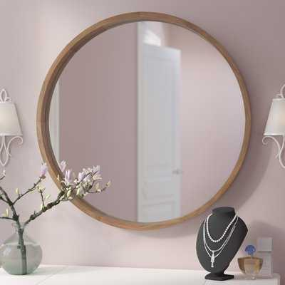 "Loftis Round Wood Frame Wall Mirror 30"" - Wayfair"