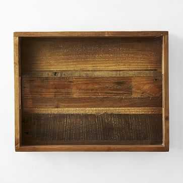 """Reclaimed Wood Tray, Natural, 14""""x18"""" - West Elm"""