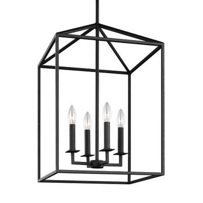 Sea Gull Lighting Perryton 12.25 in. W. 4-Light Blacksmith Hall-Foyer Pendant - Home Depot