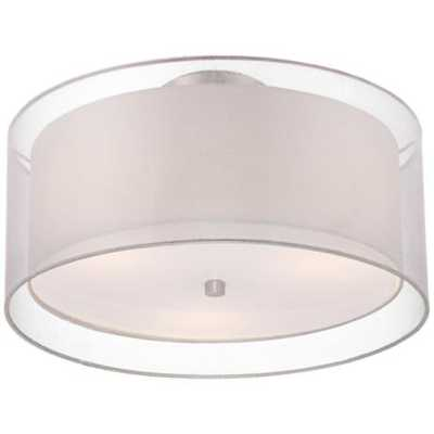 "Possini Euro Design Double Drum 18"" Wide White Ceiling Light - Lamps Plus"