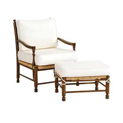 Ballard Designs Toulon Chair & Ottoman - Ballard Designs