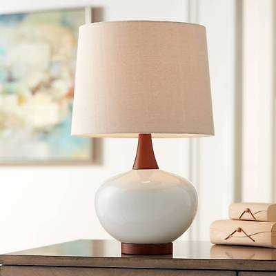 Mid Century Modern Table Lamp Ceramic Ivory for Living Room Family Bedroom - eBay