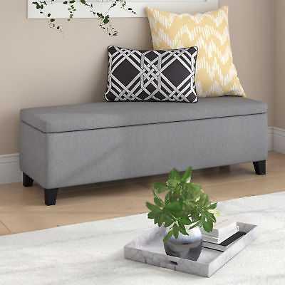 Wrought Studio Schmit Upholstered Storage Bench: Gray - eBay