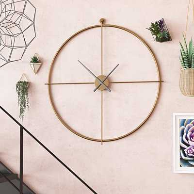 "Oversized 38"" Mid-Century Wall Clock - Wayfair"
