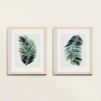 Ballard Designs Petite Emerald Palm Art - Ballard Designs
