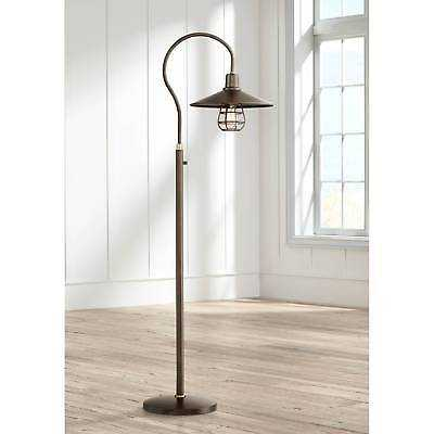 Modern Floor Lamp Industrial Oiled Bronze Cage Barn Light Shade For Living Room - eBay